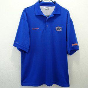 🌵 Columbia PFG Florida Gators Polo Shirt M Blue